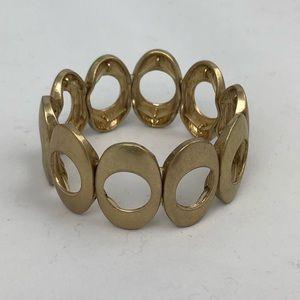 Gold bracelet, stretchy